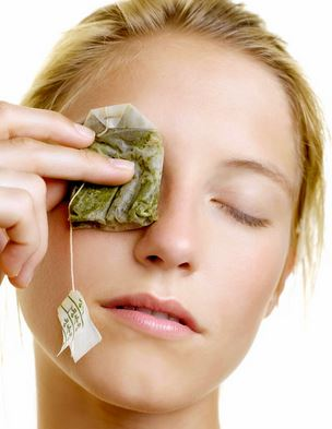 Apply chilled tea bags as a home remedy to relieve the inflammation under eyes