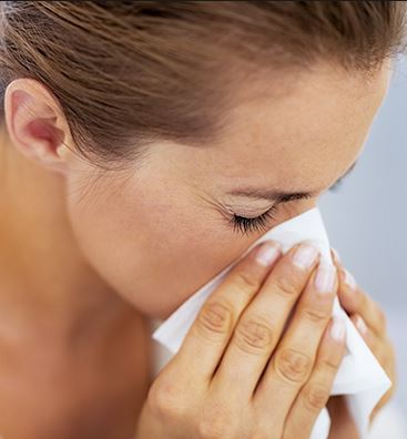 Blow your nose to open up blocked ears and sinus passages