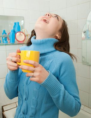 Gargling with salt water is said to help get rid of tonsil debris