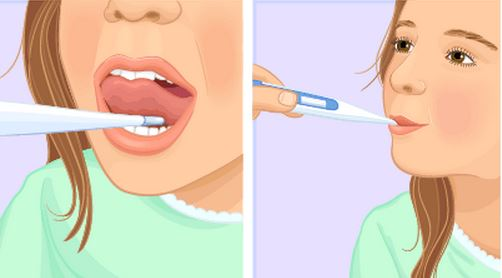 How to take temperature in mouth